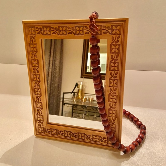 Vanity mirror made with a Dansk picture frame.